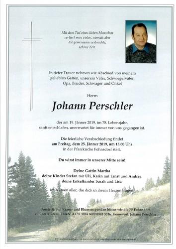 Johann Perschler