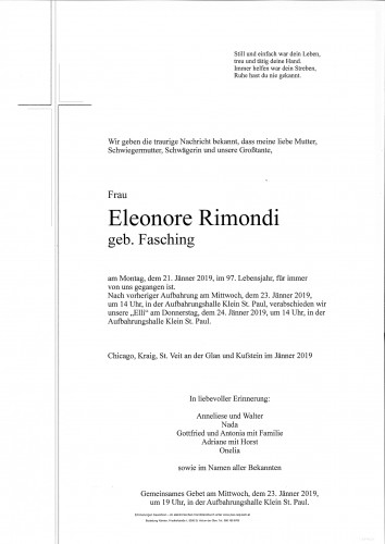 Eleonore Rimondi