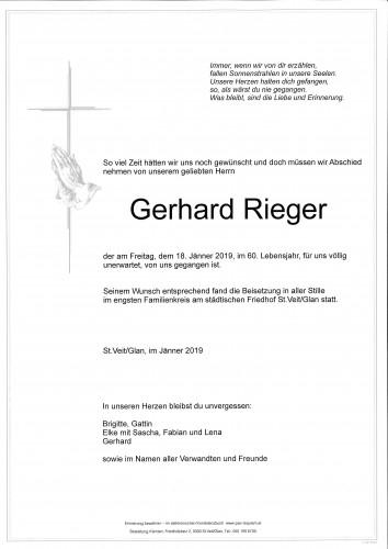 Gerhard Rieger