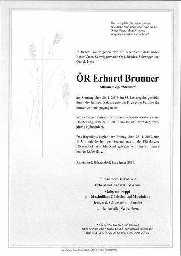 ÖR Erhard Brunner
