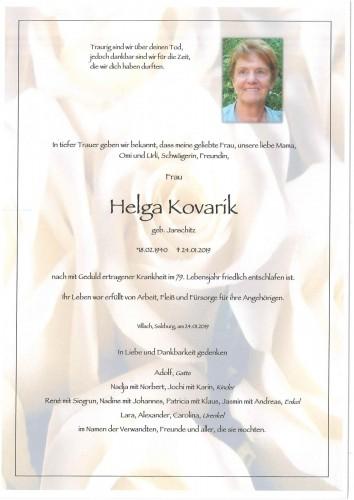 Helga Kovarik geb. Janschitz