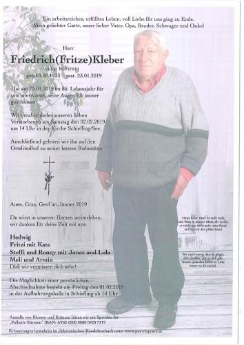 Friedrich Kleber