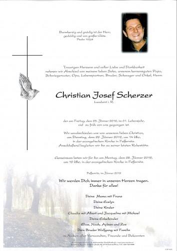 Christian Josef Scherzer