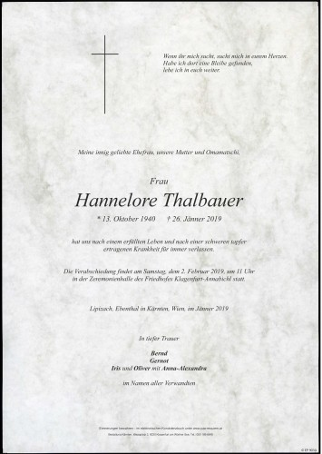 Hannelore Thalbauer