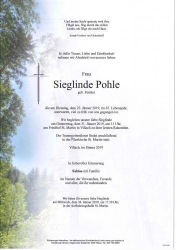 Sieglinde Pohle geb. Fischer