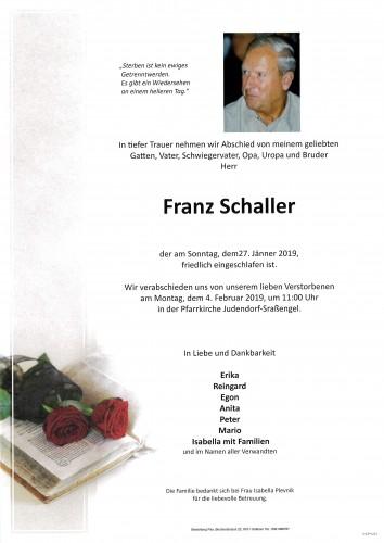 Franz Schaller