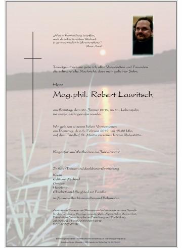 Mag. Robert Lauritsch