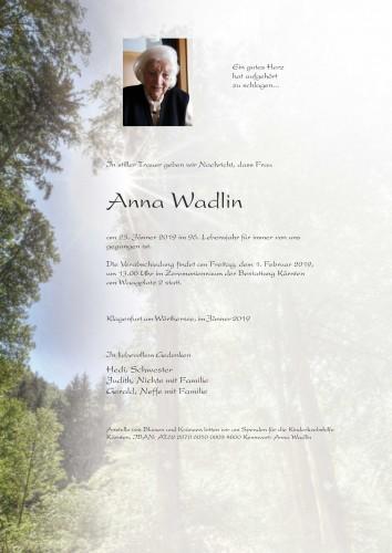 Anna Wadlin