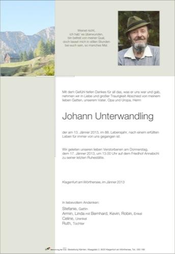 UNTERWANDLING Johann