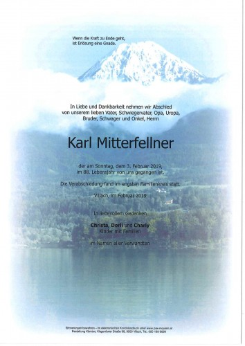 Karl Mitterfellner
