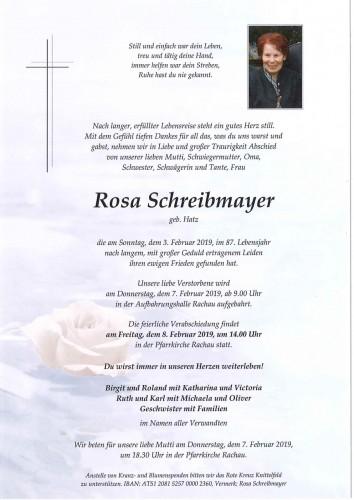 Rosa Schreibmayer