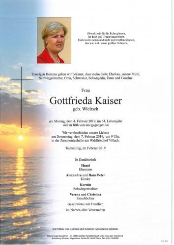 Gottfrieda Kaiser geb. Wieltsch