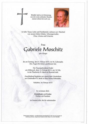 Gabriele Moschitz geb. Kluger