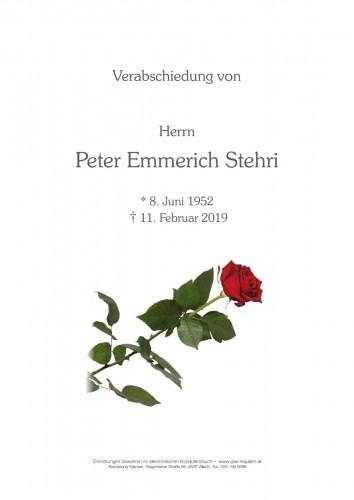 Peter Emmerich Stehri