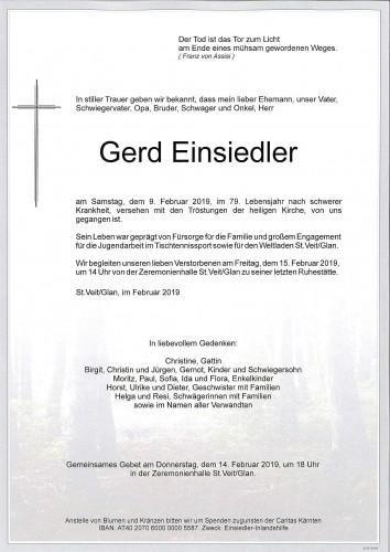 Gerd Einsiedler