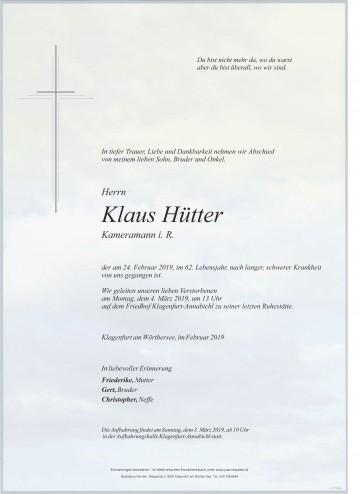 Klaus Hütter