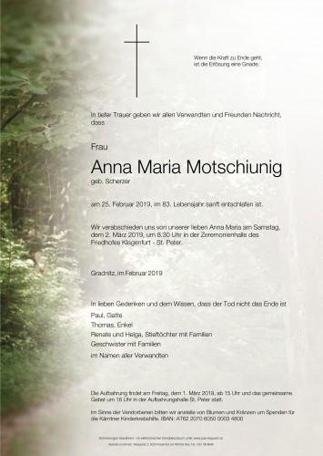 Anna Maria Motschiunig