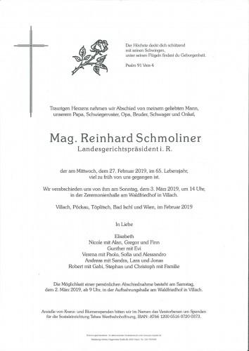 Mag. Reinhard Schmoliner
