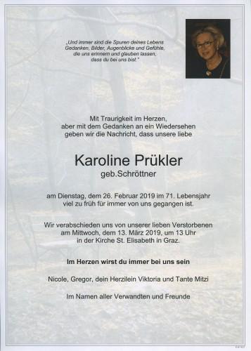 Karoline Prükler geb. Schröttner