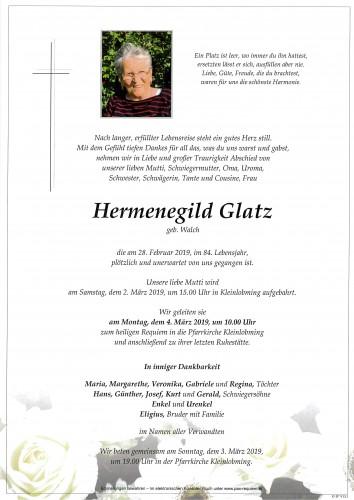 Hermenegild Glatz, geb. Walch