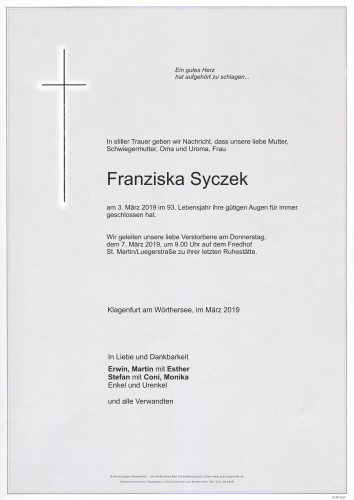 Franziska Syczek