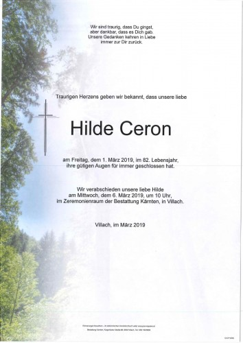 Hilde Ceron geb. Leditznig