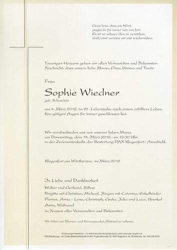 Sophie Wiedner geb. Schuschitz