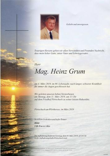 Mag. Heinz Grum