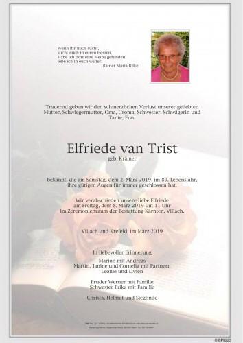 Elfriede van Trist, geb. Krämer