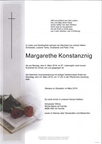 Margarethe Konstanznig