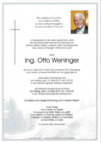 Ing. Otto Weninger