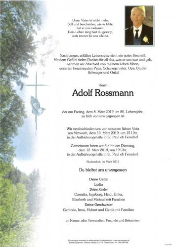 Adolf Rossmann
