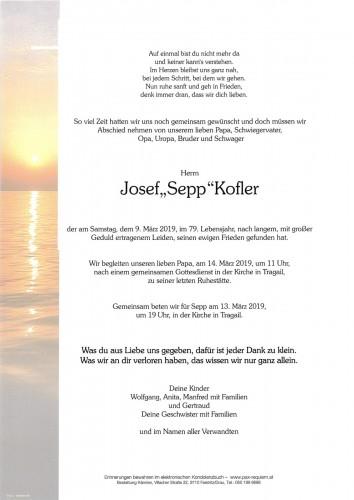"""Josef """"Sepp"""" Kofler"""