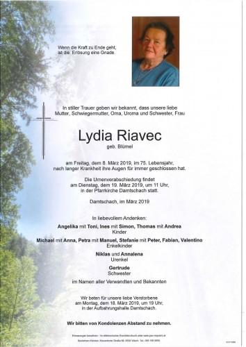 Lydia Riavec geb. Blüml