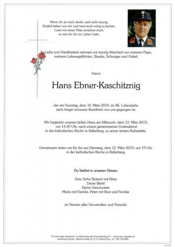 Hans Ebner-Kaschitznig