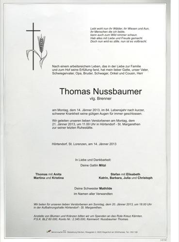 NUSSBAUMER Thomas