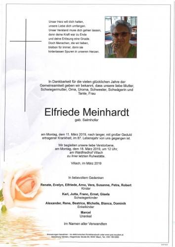Elfriede Meinhardt geb. Salmhofer