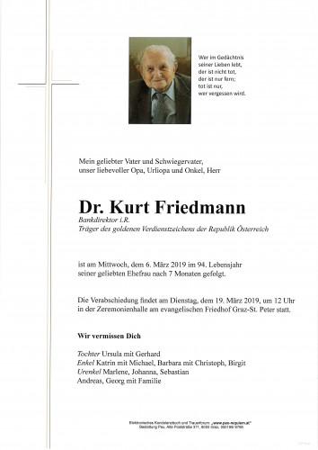 Dr. Kurt Friedmann