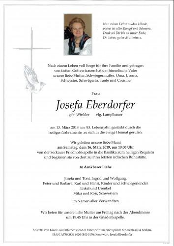 Josefa Eberdorfer, vlg. Lamplbauer