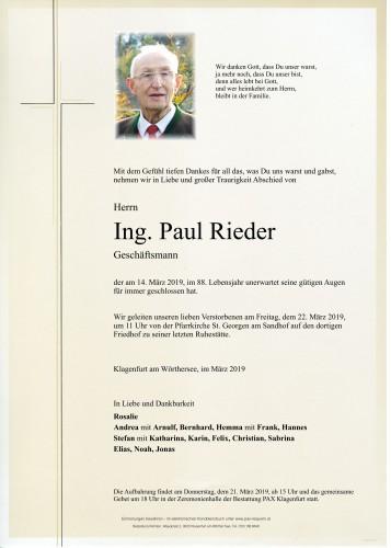 Ing. Paul Rieder