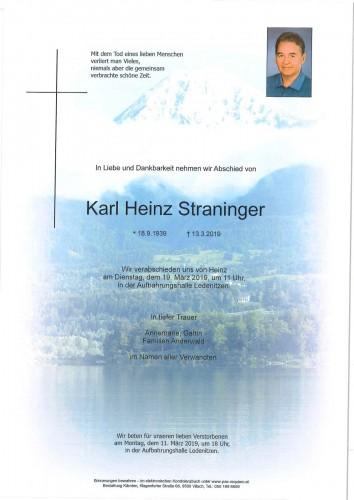 Karl Heinz Straninger