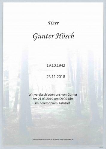 Günter Hösch
