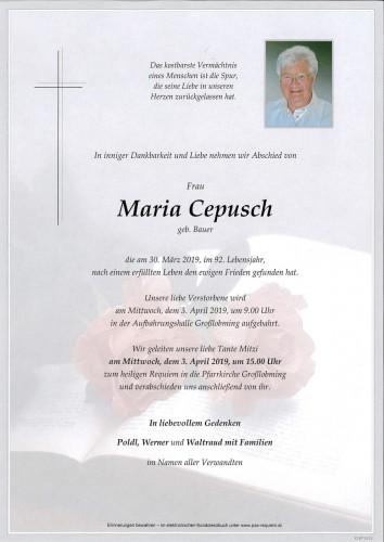 Maria Cepusch