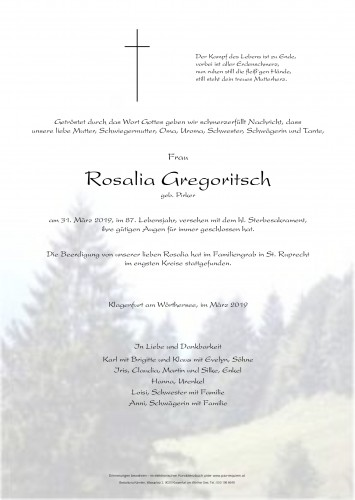 Rosalia Gregoritsch