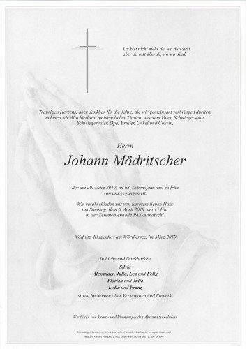 Johann Mödritscher