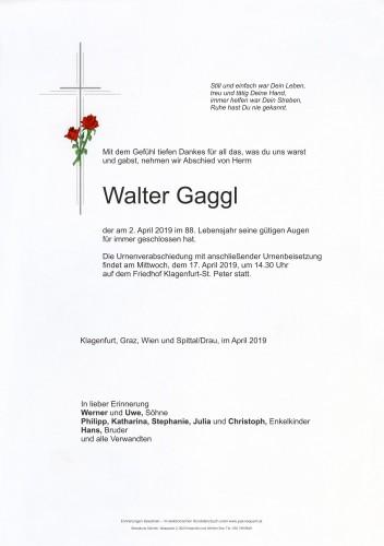 Walter Gaggl
