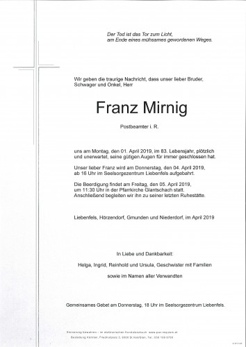 Franz Mirnig