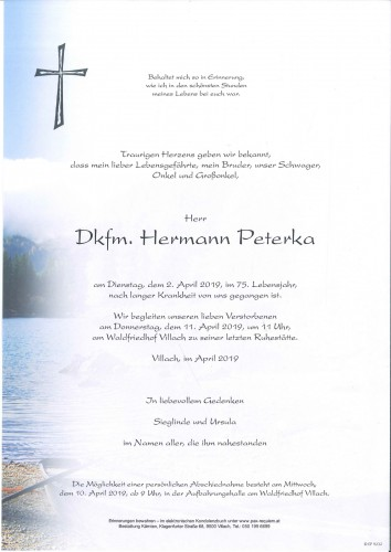 Dkfm. Hermann Peterka