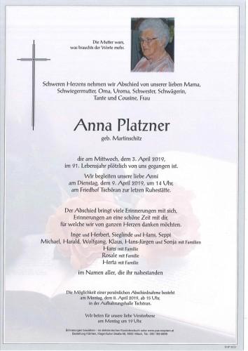 Anna Platzner