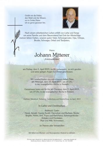 Johann Mitterer